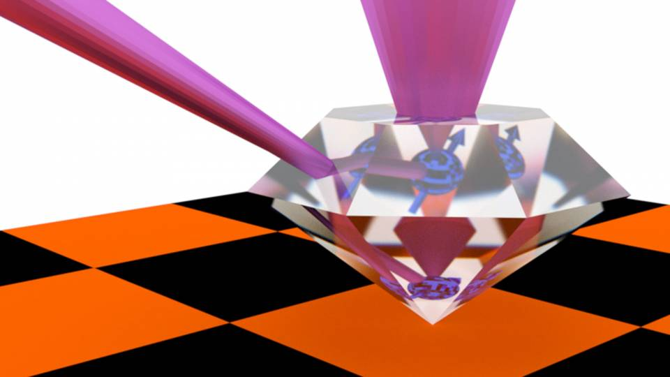 The de Leon lab made small substitutions of atoms in the lattice of carbon atoms that make up diamonds, allowing the diamond to serve as a quantum repeater, a device that briefly stores and retransmits quantum information over long distances