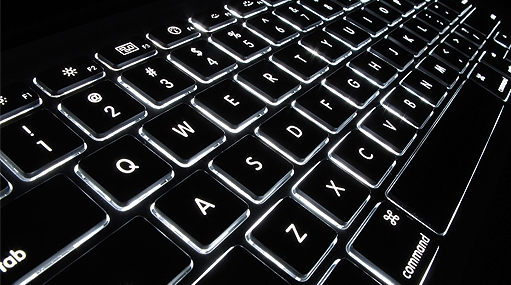 Image of illuminated keyboard