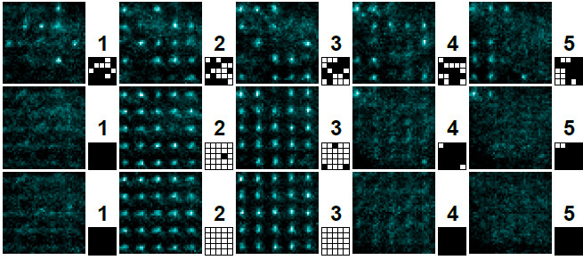Reducing entropy in a randomly half-filled 5x5x5 lattice of atoms
