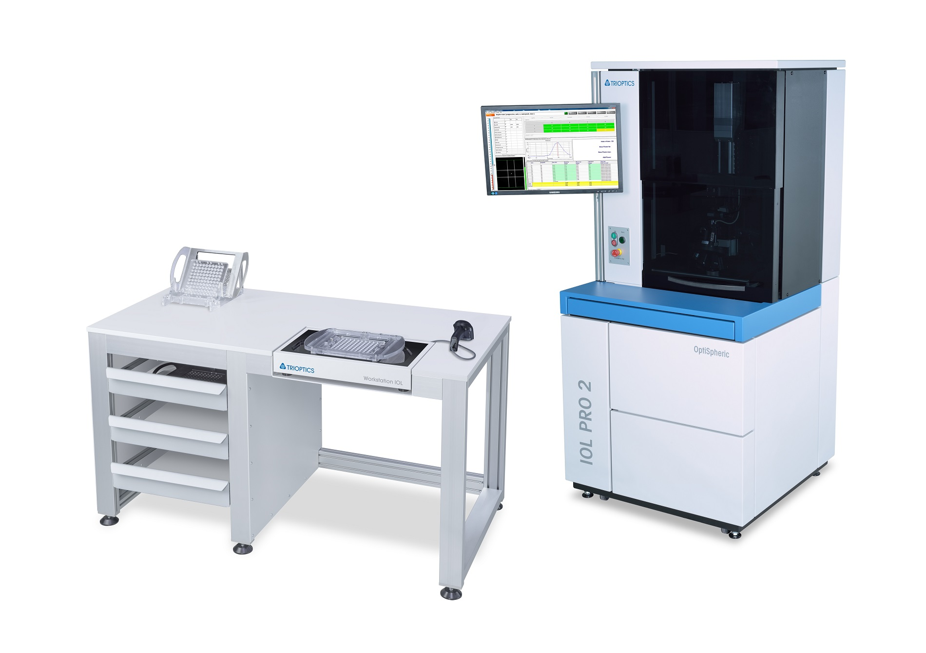 The Workstation IOL offers a workplace for the sorting of lens batches after measurement in OptiSpheric® IOL PRO 2.