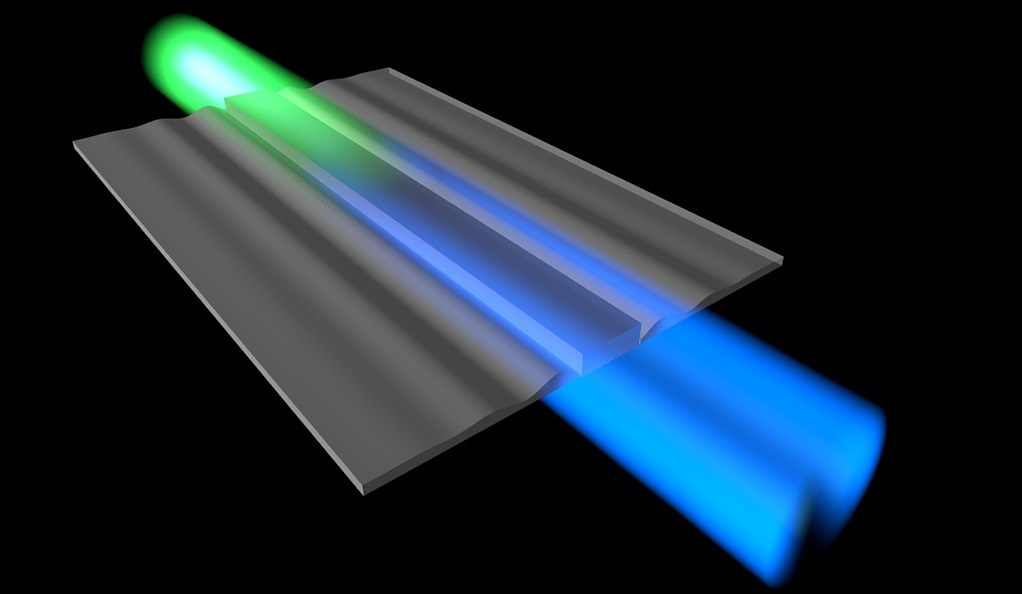 Cooling sound waves with light involves converting sound energy into light energy, which changes the color of the light