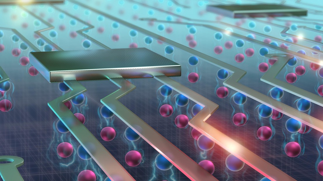 After developing a method to control exciton flows at room temperature, EPFL scientists have discovered new properties of these quasiparticles that can lead to more energy-efficient electronic devices