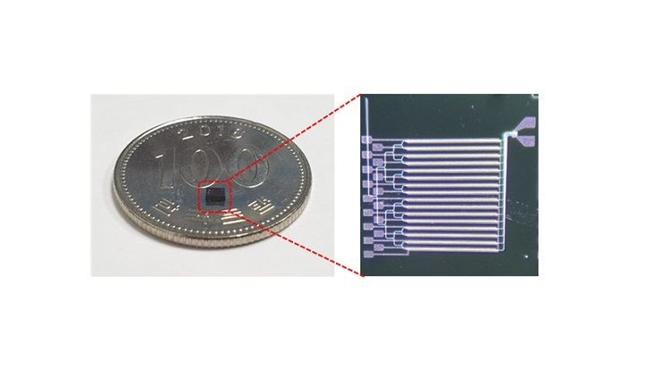 Figure 1.The manufactured OPA chip
