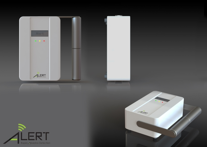 The proposed design for the future commercialized portable asbestos detector
