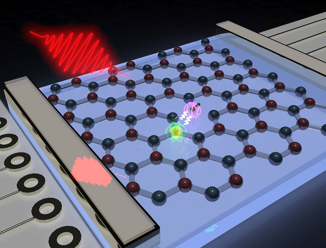 Atomic thin layer of boron nitride with a spin center formed by the boron vacancy