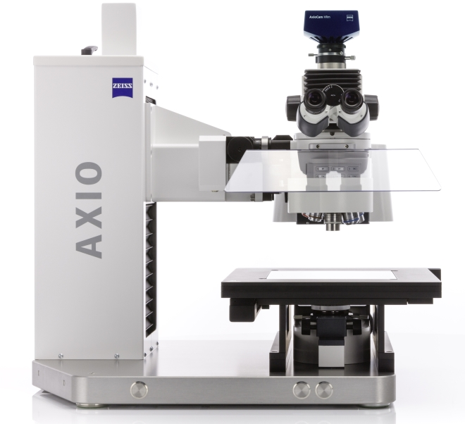 Axio Imager Vario from ZEISS with motorized column and cleanroom kit.