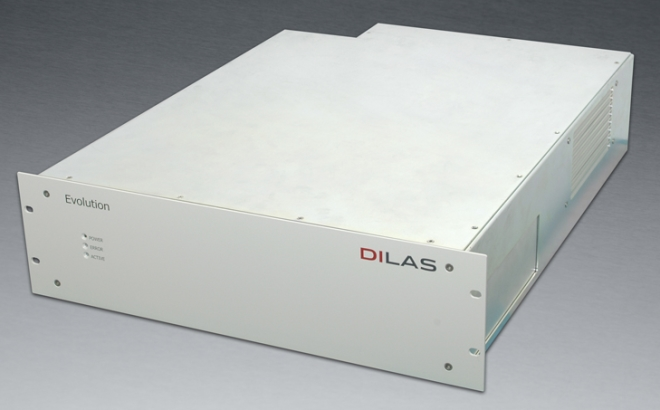 Compact,  fiber-coupled, CW diode laser system