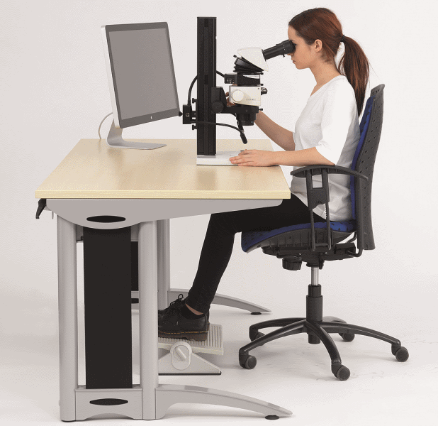 The ergonomical design of the workstation