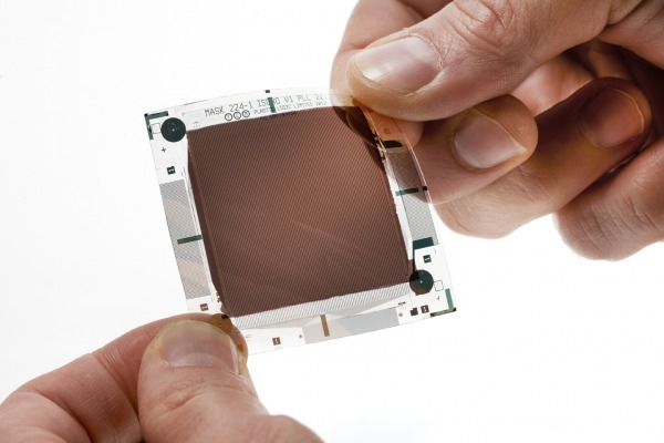Image sensor on plastic