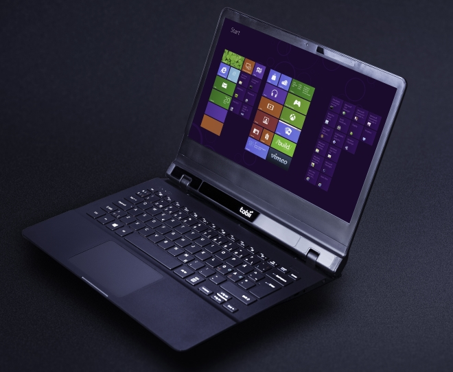 The prototype laptop powered by Tobii eye tracking and Synaptics ForcePad