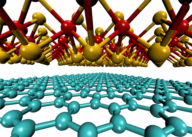 Graphene and molybdenum disulfide