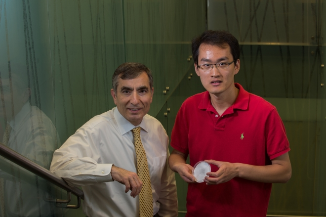Rice University chemist James Tour and graduate student Changsheng Xiang