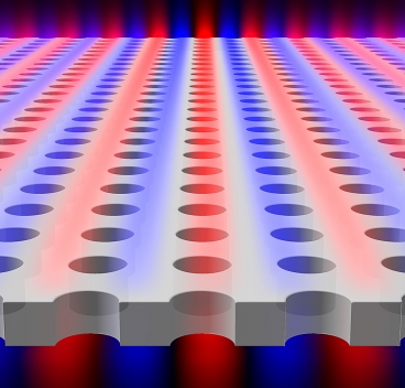 Light is found to be confined within a planar slab with periodic array