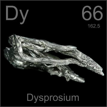 Dysprosium, a rare-earth element used in hard disk coatings, has an unusual electronic structure