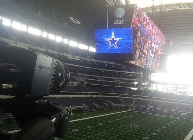 The Replay Technologies freeD(TM) system installed in AT&T Stadium in Dallas