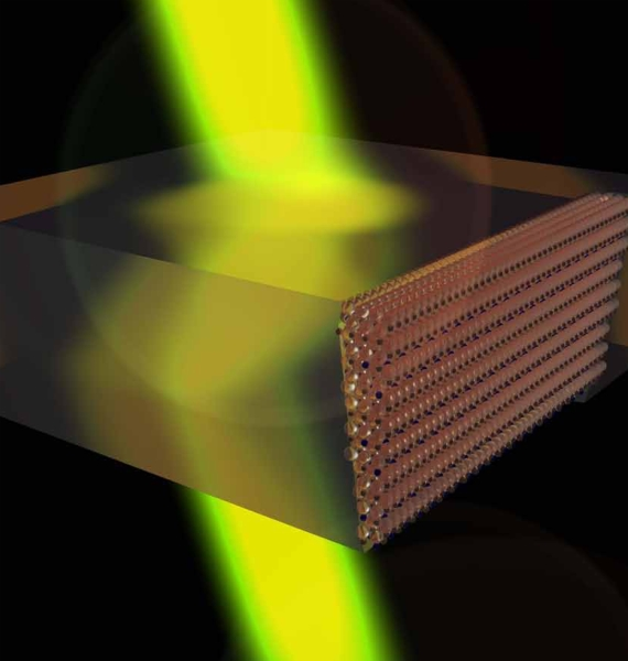 "This graphic depicts a device created using ""negatively refracting metamaterials"