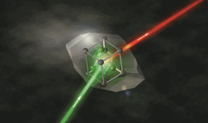 Laser processes observed with X-rays on a solid