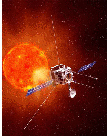 Artist's concept of the Solar Orbiter spacecraft observing the sun (Illustration: NASA)