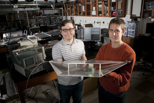 Duke engineering students Alexander Katko (left) and Allen Hawkes