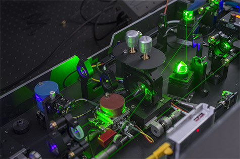The ultrafast laser system used to probe the energy flow within the cyanobacterial megacomplex
