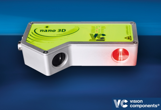 The compact 3D vision sensor independently records and processes data
