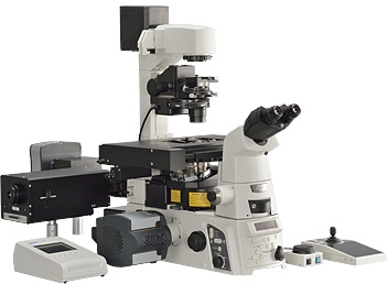 H-TIRF Module and DMD Module in combination with Inverted Research Microscope Eclipse Ti-E