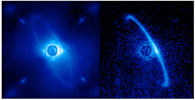 Gemini Planet Imager's first light image of the light scattered by a disk of dust orbiting the young star HR4796A