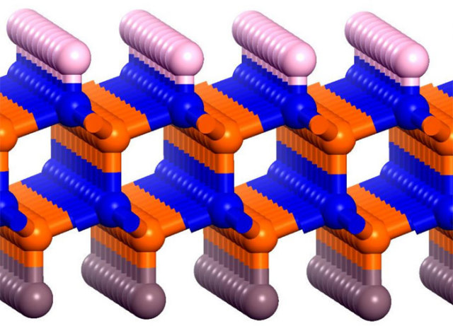 Illustration of the boron-nitride bilayer
