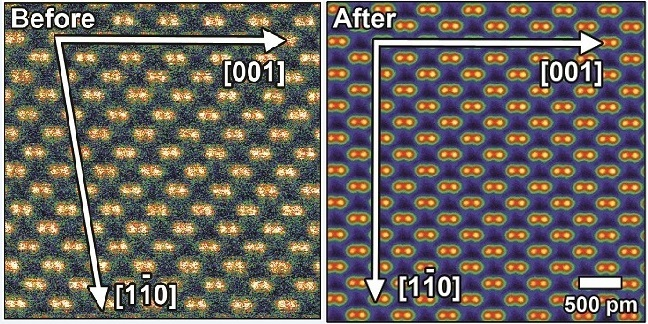 The new technique effectively eliminates distortion from nanoscale images