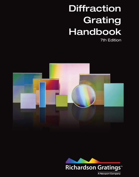 image of the cover of the Diffraction Gratings Handbook