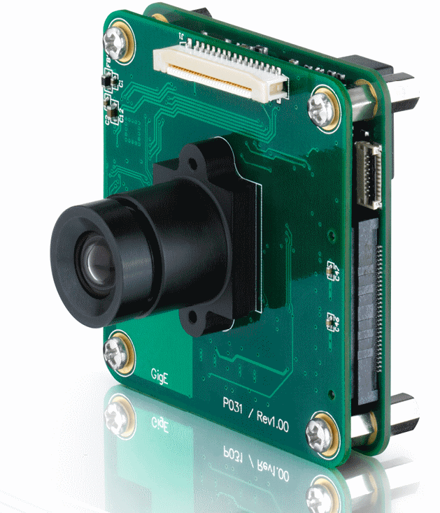 The 5 megapixel GigE board cameras