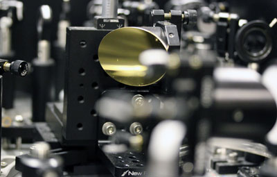 A THz spectrometer driven by femtosecond laser pulses