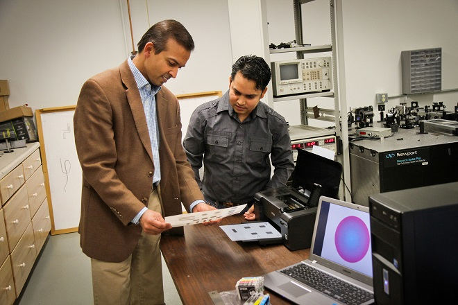 University of Utah electrical engineers Ajay Nahata and Barun Gupta