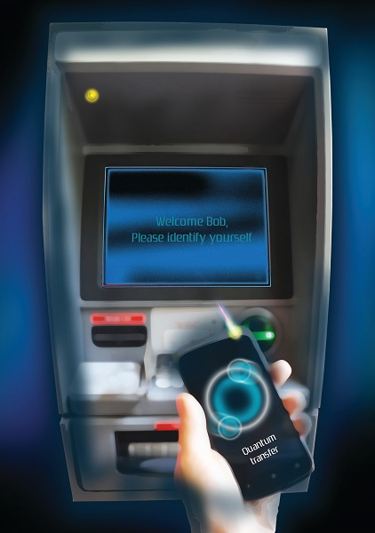 In the future, quantum cryptography might secure transactions such as identification at ATMs