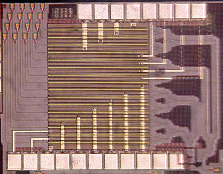 An image of Hajimiri's light-bending silicon chip
