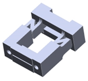 Optical connector with simplified design