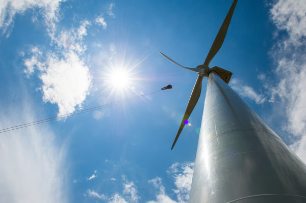 A big challenge for utilities is finding new ways to store surplus wind energy and deliver it on demand