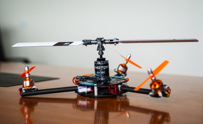 The UQ-designed unmanned surveillance helicopter