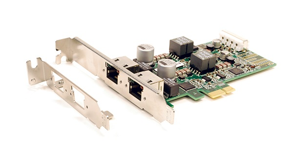 The new two-port GIGE-PCIE2-2P02 network interface card