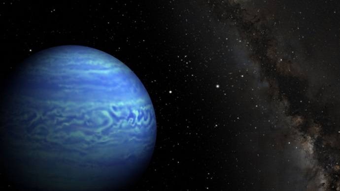 This image is an artist's conception of the brown dwarf WISE J085510.83-071442.5