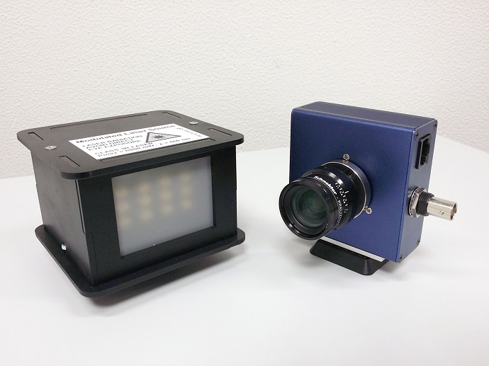 Photo of the setup consisting of light source and camera