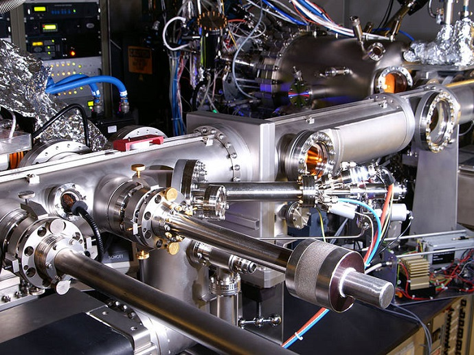 The ultra-thin layers of the metamaterial were produced with this molecular beam epitaxy system