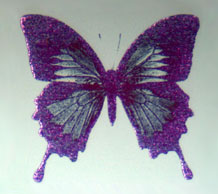 A butterfly image drawn with the new technology