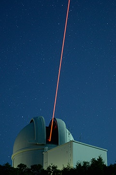 The ultraviolet Robo-AO laser originating from the Palomar 1.5-meter Telescope dome