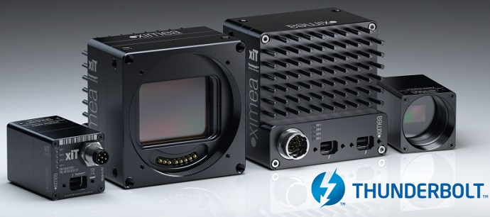 XIMEA presents world's first Thunderbolt™ technology enabled industrial cameras