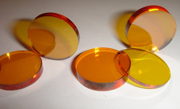 Samples of chalcogenide glass prepared in Southampton