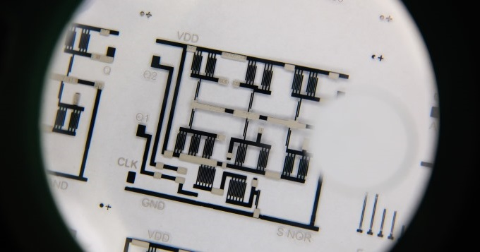 Printed flexible electronic circuit