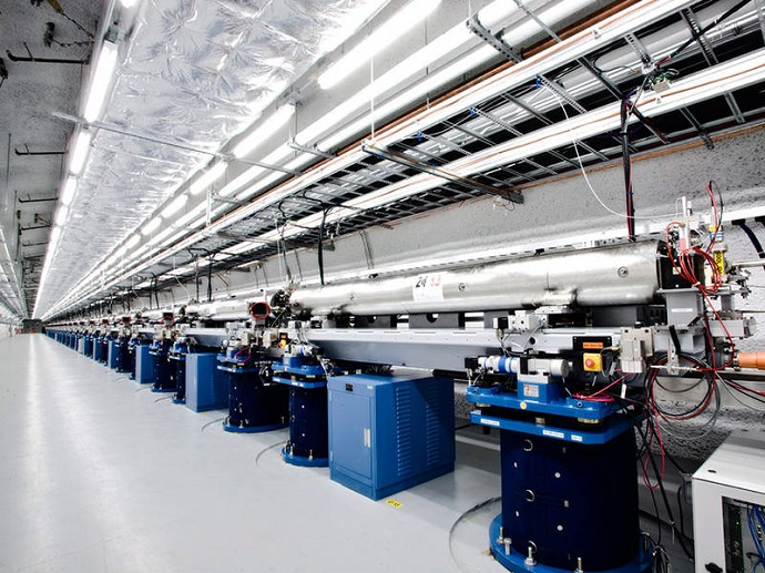 Undulator hall of Linac Coherent Light Source at SLAC