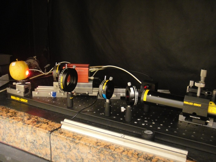 setup to measure speckle patterns involves coherent light