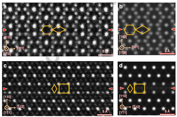 Experimental and theoretically predicted high-resolution electron microscopy images of the antiphase boundary defect in magnetite